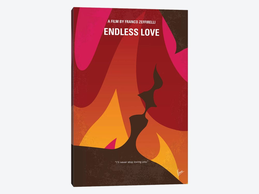 A poster by Chungkong of Endless Love depicting a house on fire