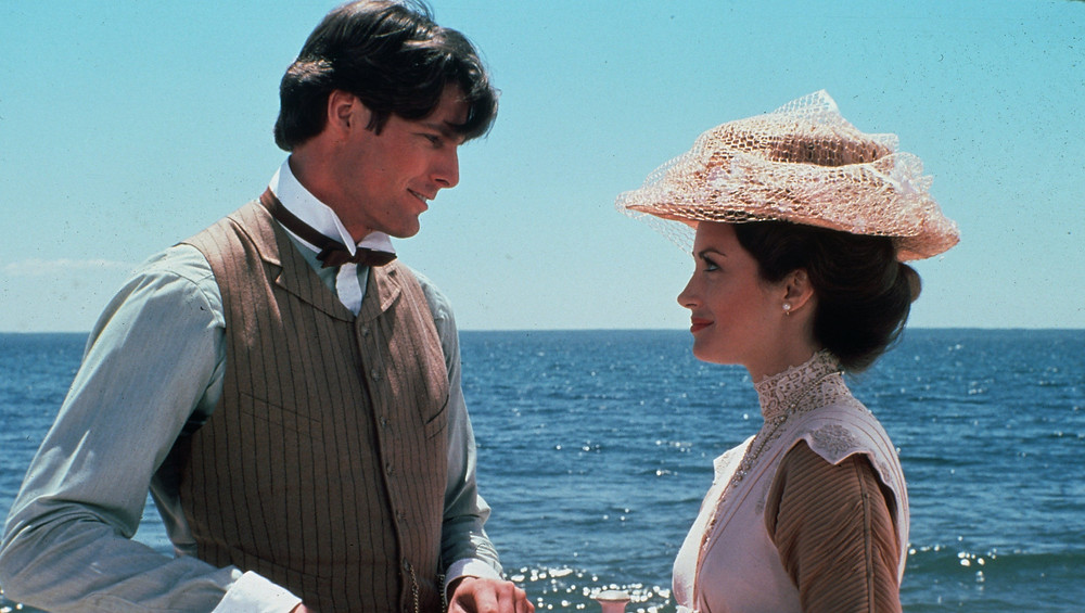 Christopher Reeves and Jane Seymour as the appear in the film Somewhere in Time