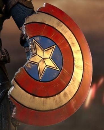 Captain America's cracked shield from Avengers Endgame