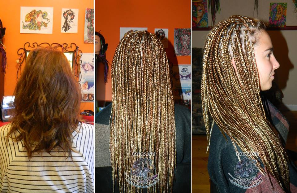Tresses africaines avec rallonges