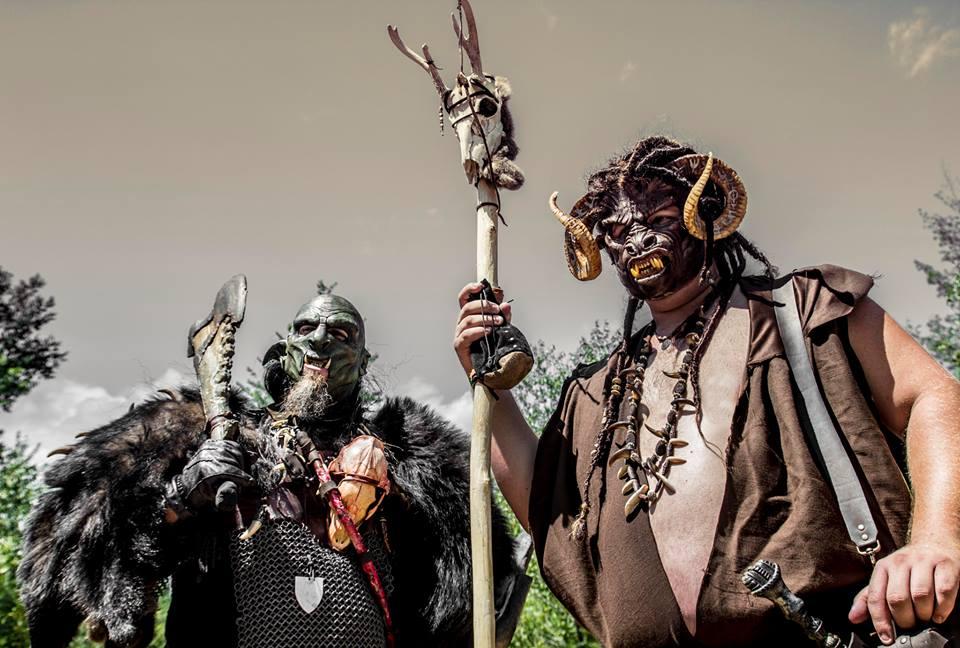 Dreadlocks sur un masque