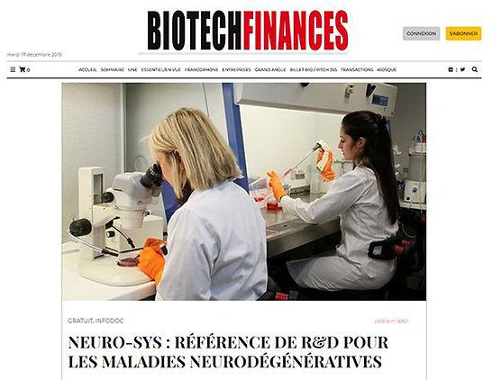 Image from BiotechFinances website
