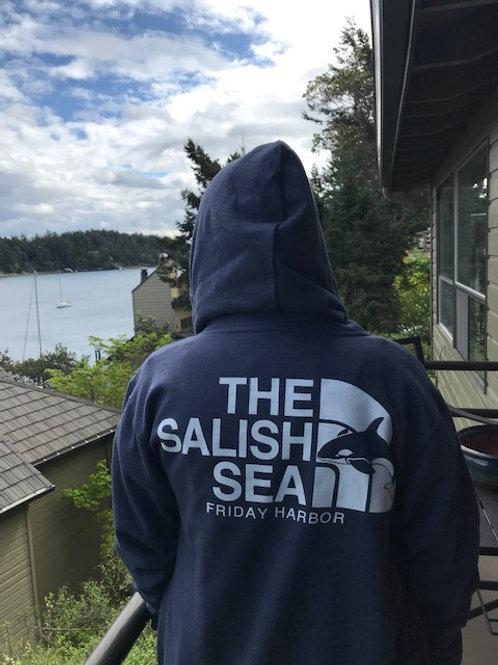 Salish Sea Zip-up Hoodie (Charcoal)