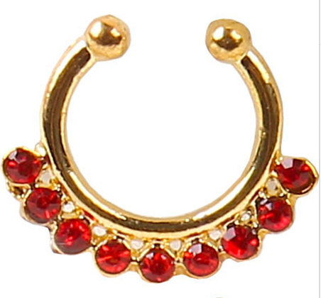 Fake Septum Ring (Red)