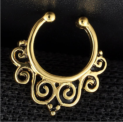 Fake Septum Ring (Gold)