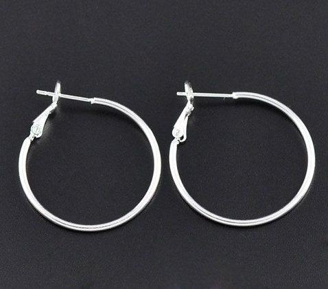 Silver Hoop Earrings (small)