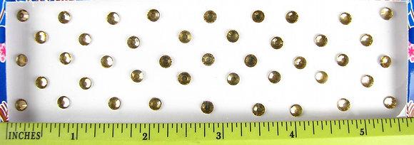 Single Stone Bindis (Pale Gold) - large