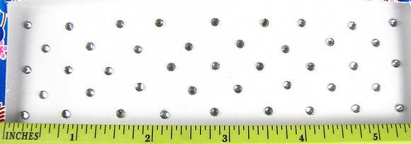 Single Stone Bindis (Silver) - small