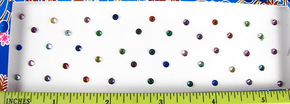 Single Stone Bindis (Assorted Colors) - small (3 mm)