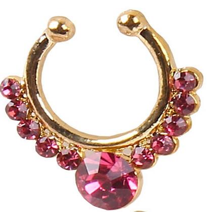 Fake Septum Ring (Pink)