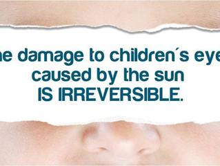 太陽輻射線對兒童眼睛的危險