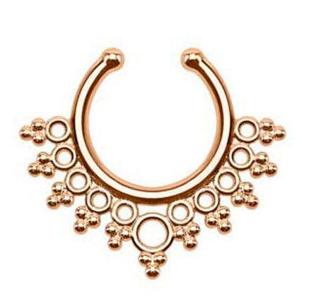 Fake Septum Ring (Rose Gold)