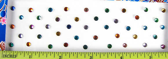 Single Stone Bindis (Assorted Colors) - medium (4 mm)