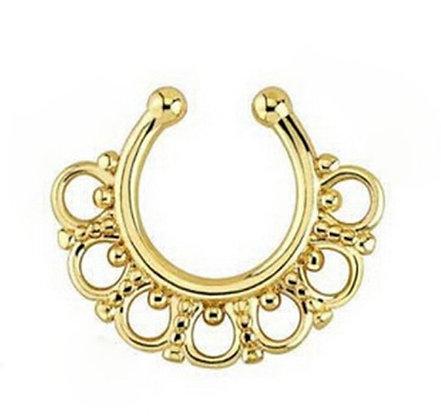 Fake Septum Ring (Gold)