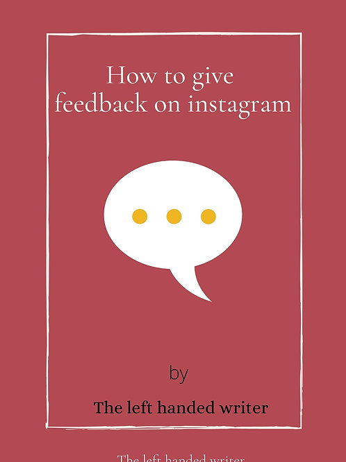 E-Book: How to give feedback