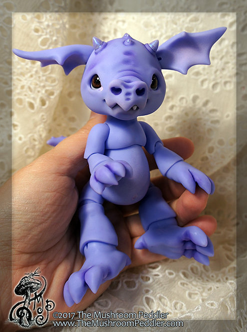 Smoulder the Baby Dragon - Purple Resin - Face up/Blushing