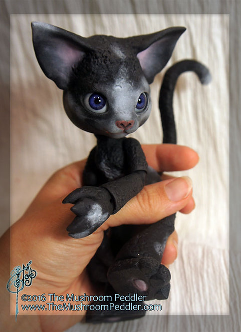Scratch the Cat - Midnight Black resin - SOLD OUT
