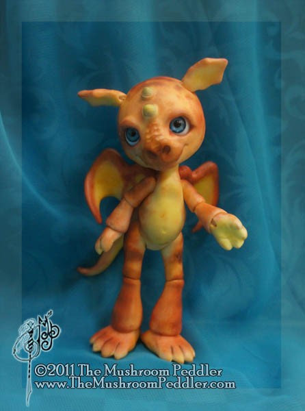 Flicker the Mini Dragon - white resin - SOLD OUT