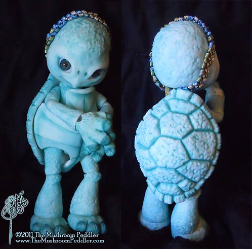 Shelly the Turtle - White resin