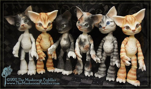 Scratch the Cat - White resin - LIMITED EDITION SOLD OUT/RETIRED