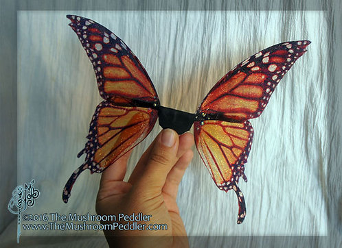 Butterfly Fairy Wings - Monarch - Medium