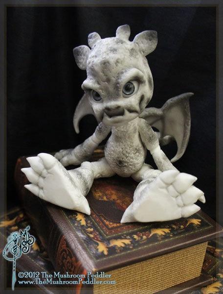 Rocky the Gargoyle - White resin