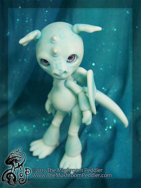 Flicker the Mini Dragon - pale blue resin - SOLD OUT