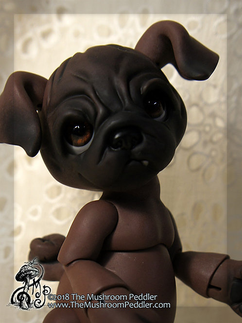 Puddles Baby Pug - Coco Resin - Face up/Blushing