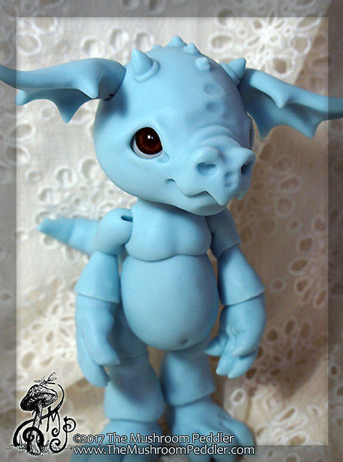 Smoulder the Baby Dragon - Blue Resin - BLANK