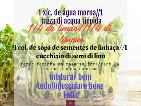 Limão e Linhaça//Limone e Semi di Lino