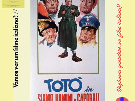 Vamos ver um filme italiano?//Vogliamo vedere un film italiano?