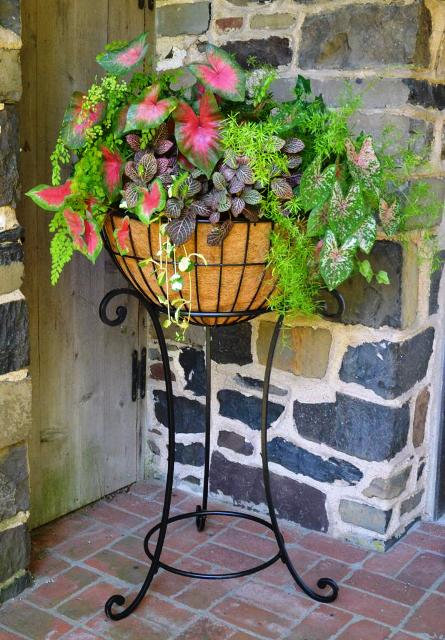 metal plant stand for large planters