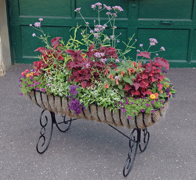 large wrought iron planters