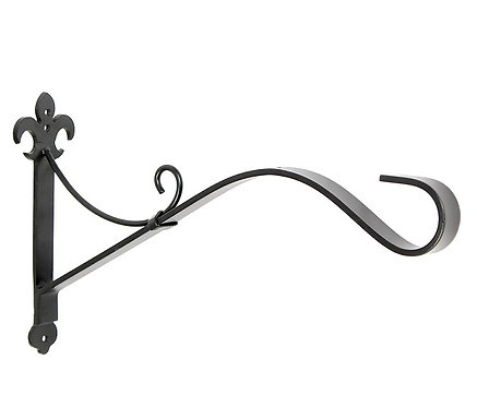 heavy-duty iron bracket for hanging baskets