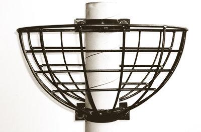 lamppost flower baskets for small lightpoles