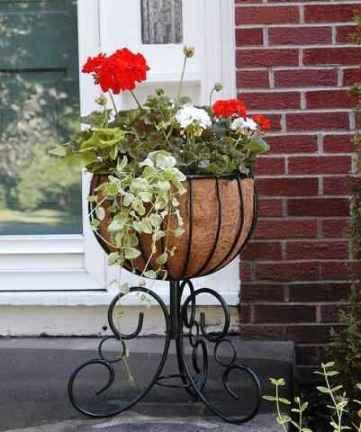 decorative wrought iron planter