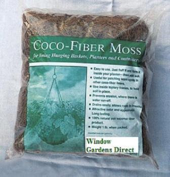 bags of loose coco moss