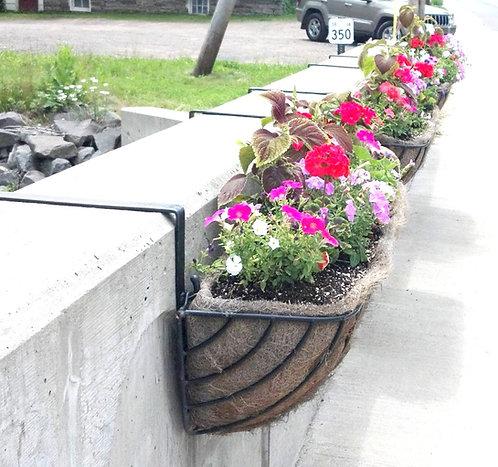 large wrought iron planters