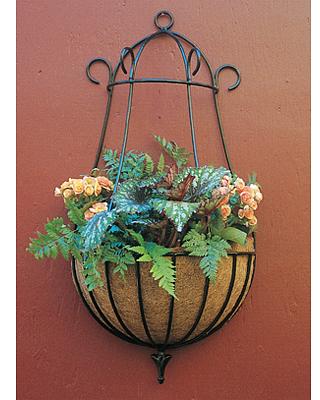 decorative wrought iron wall basket