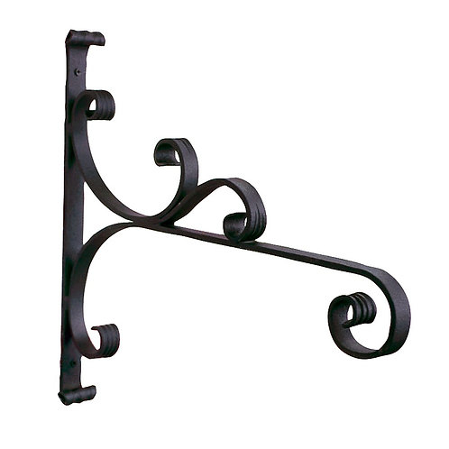 large wrought iron wall bracket for hanging baskets
