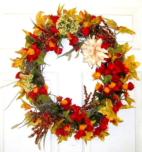 affordable Fall door wreath
