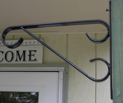 steel wall brackets for hanging baskets
