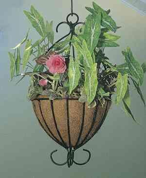 decorative wrought iron hanging baskets