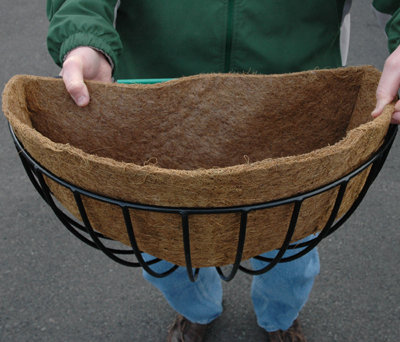 half-round iron wall basket