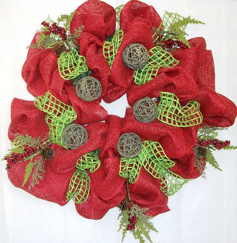 Hand-crafted Christmas Wreath on SALE