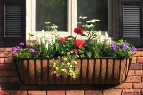 Wrought Iron Window Boxes With Coco Liner 36 Quot Length