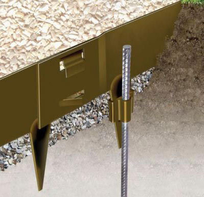 LAWN EDGING PIN & SLEEVE ACCESSORY