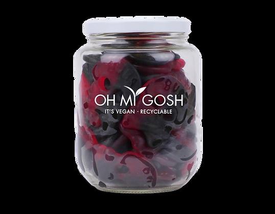 Vegan Bubs Liquorice Raspberry Skulls Gift Jar
