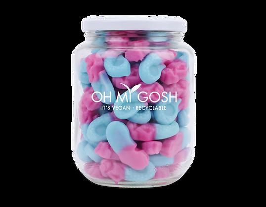 Vegan Gummy Bubblegum Mermaids Gift Jar