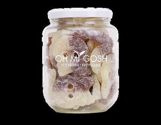 Vegan Giant Sour Cola Skulls Gift Jar